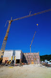 Construction of an industrial building Stock Images