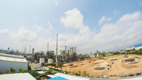 Construction of industrial plant , Time lapse Stock Image
