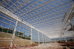 Construction of industrial sheds Stock Image