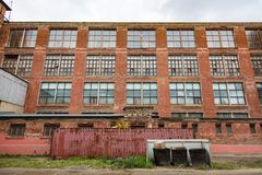 Construction industrielle abandonnée Photographie stock libre de droits