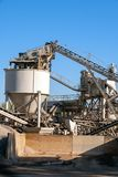 Construction industry concrete plant. Structure on a clear blue sky stock photo