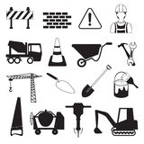 Construction and Industry Icons Royalty Free Stock Photography
