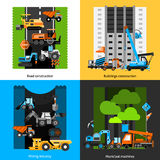 Construction Industry Icons Set Royalty Free Stock Photo
