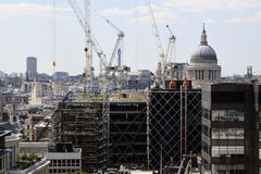 Construction Industry In London UK Europe Royalty Free Stock Photo
