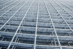Construction Industry Metal Grid Plates Stock Photo