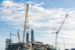 Construction Industry oil rig refinery working site. Asia in Thailand Stock Photography