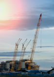 Construction Industry oil rig refinery working site Stock Photos