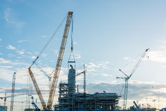Construction Industry oil rig refinery working site Royalty Free Stock Photo