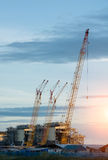 Construction Industry oil rig refinery working site Stock Photo
