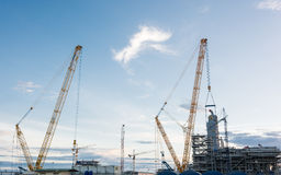 Construction Industry oil rig refinery working site Stock Image