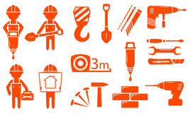 Construction industry set Royalty Free Stock Images