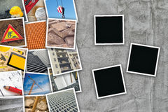 Construction industry themed photo collage Stock Photos