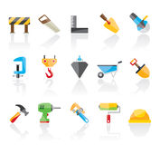 Construction industry and Tools icons Stock Photos