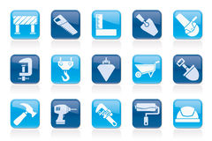 Construction industry and Tools icons Stock Photography