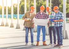 Construction Industry workers royalty free stock photos