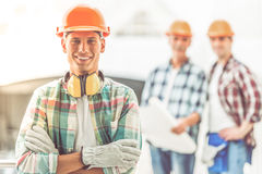 Construction Industry workers Royalty Free Stock Images