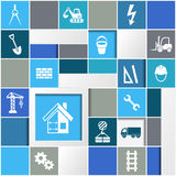 Construction infographic design Royalty Free Stock Photos