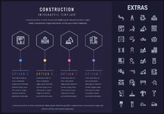 Construction infographic template and elements. Stock Photos