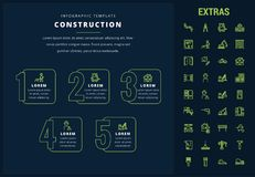Construction infographic template and elements. Stock Photo