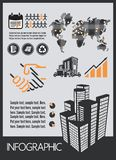 Construction infographic Stock Images