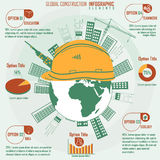 Construction infographics Stock Photography