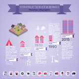 Construction Infographics Illustration Stock Image