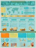 Construction Infographics Set Stock Photography