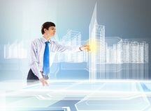 Construction and innovation technologies Royalty Free Stock Photo