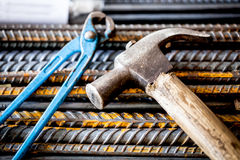 Construction instruments,hammer and plier Stock Images