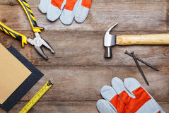 Construction instruments Stock Image