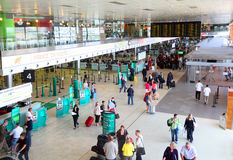 Construction intérieure d'aéroport Images libres de droits