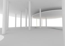 Construction intérieure de courbe de l'espace Images libres de droits