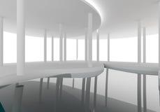 Construction intérieure de courbe de l'espace Photo libre de droits