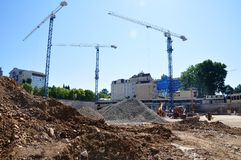 Construction of International Olympic University Royalty Free Stock Photos