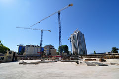 Construction of International Olympic University. In Sochi city center in August 11, 2011 Sochi, Russia for the Winter Olympic Games 2014 Stock Photo