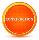 Construction Natural Orange Round Button vector illustration