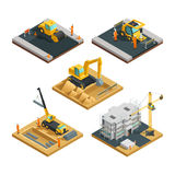 Construction Isometric Composition Set Stock Photo