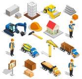 Construction Isometric Elements Set Royalty Free Stock Photography