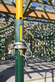 Construction Jack. Telescopic construction prop for supporting structures on construction sites royalty free stock images