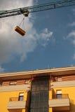 Construction jaune neuve Photos libres de droits