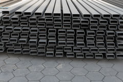 Construction job site iron building materials Stock Photos