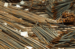 Construction job site iron building materials Royalty Free Stock Images