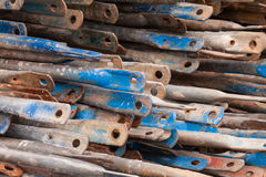 Construction job site iron building materials Royalty Free Stock Photo