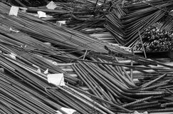 Construction job site iron building materials Stock Image