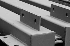 Construction job site iron building materials royalty free stock photography
