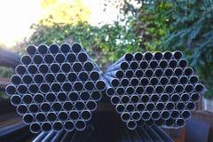 Construction job site iron building materials Stock Photo