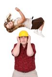 Construction and kid Royalty Free Stock Photo