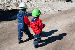 Construction kids Stock Photography