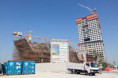 Construction of the Kuwait Investment Authority Stock Image
