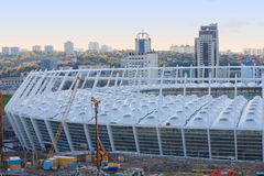 Construction of Kyiv's stadium football UEFA Stock Image